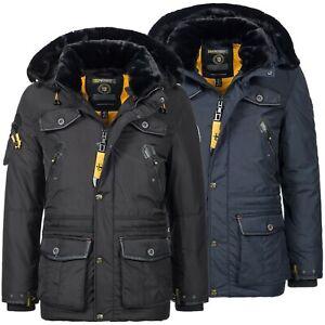 Geographical Norway Herren Luxus Parka Outdoor Sehr Warm Winter Jacke Ski Mantel