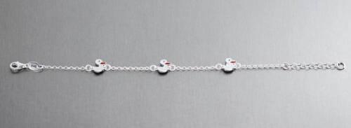 Silberarmband 925 mit Enten weiß od gelb Kinder echt Silber Armband Ente