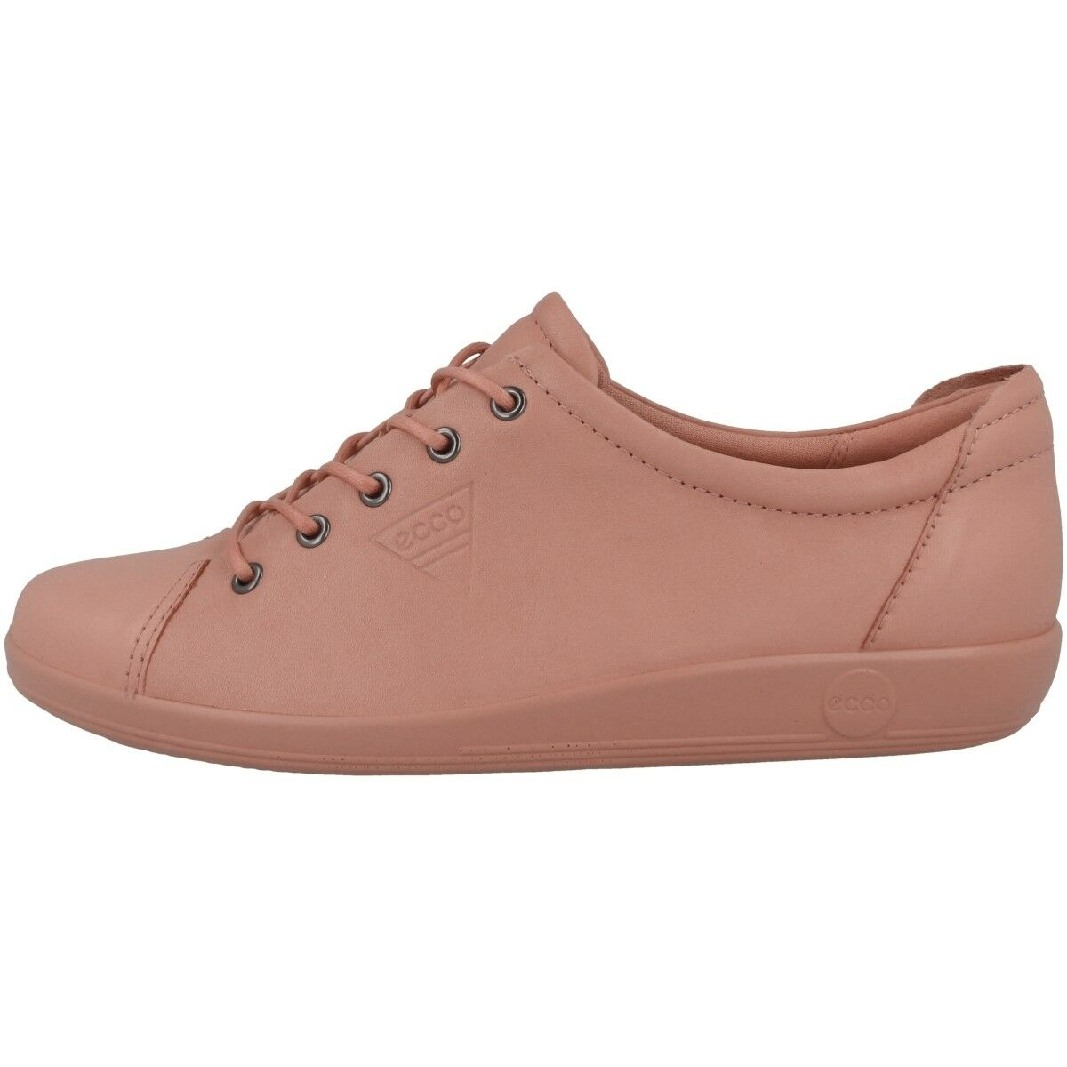 Ecco Doux 2.0 Femmes Chaussures Cuir Baskets à Lacets Sourdine Argile