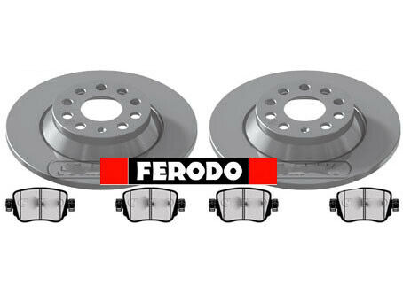 FERODO AUDI Q3 REAR BRAKE DISCS AND PADS 2011 ONWARDS 300MM