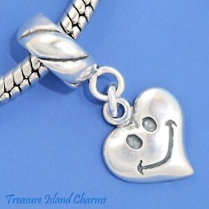 Peace Symbol And Love Heart 925 Solid Sterling Silver European Dangle Bead Charm