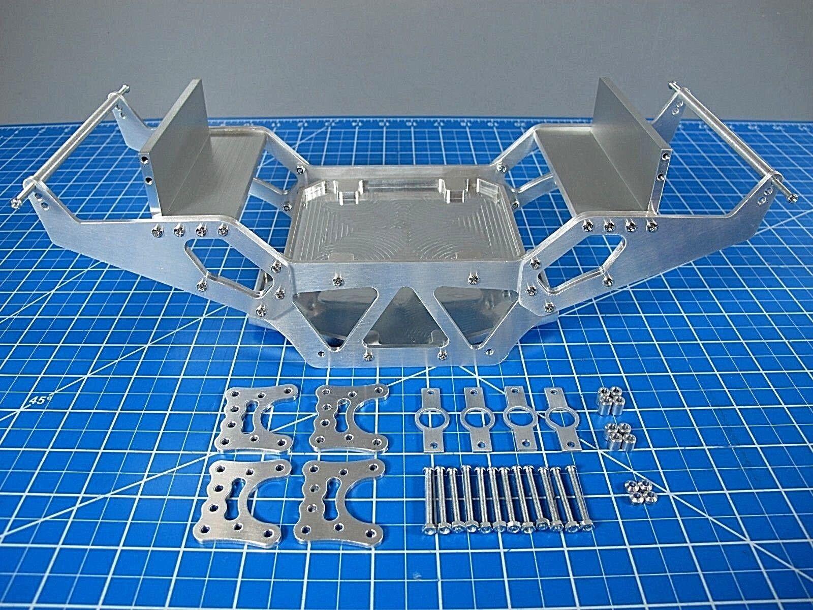 Aluminium - chassis & achse suspension verknpfung tamiya clodbuster bullhead kettenantrieb