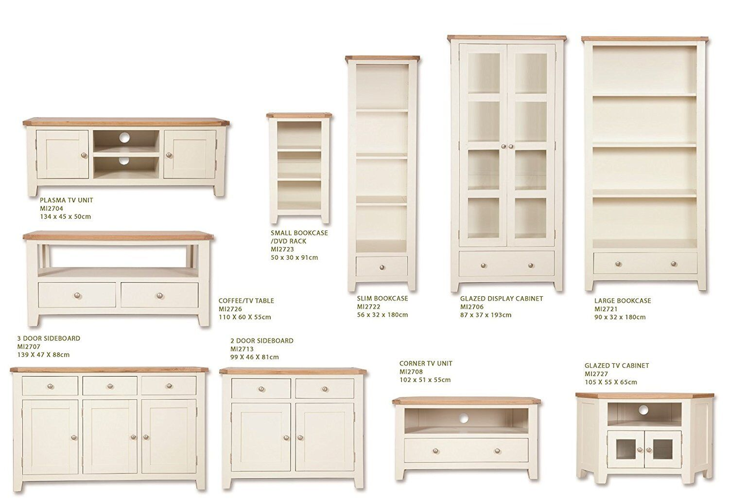 Picture of: Hobart Ivory Rustic Oak Top Corner Tv Stand Living Room Furniture Solid Oak Top Tv Cabinet With 1 Drawer Home Kitchen Furniture