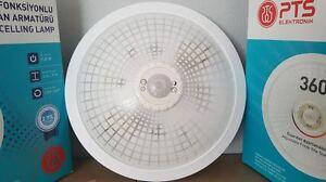 NEU  Lampe mit Bewegungsmelder  Treppenhaus Flurleuchte Deckenlampe WEISS- PTS