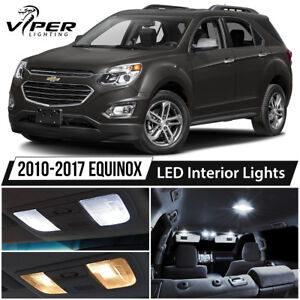 Details About 2010 2017 Chevy Equinox White Led Interior Lights Kit Package