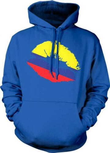 Colombia Flag Lips Colombian Pride Orgullo Bandera Colombiana Hoodie Pullover
