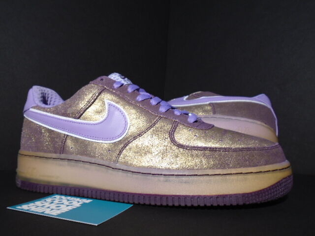 the latest c5e79 154d2 2007 Nike Nike Nike Air Force 1 Premium  07 AUBERGINE PURPLE GOLD ORCHID  MIST NEW