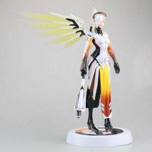 "Overwatch OW Mercy PVC Figure Figurine Statue Toy 11"""