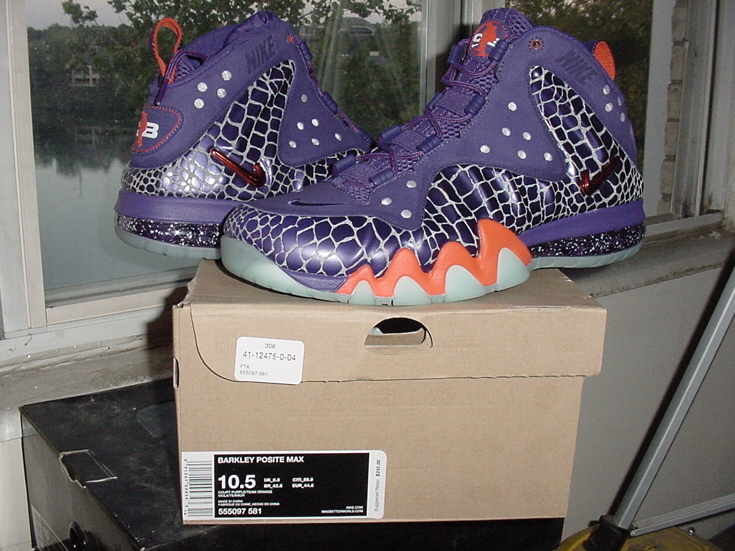 Nike Air Barkley Posite Max Chuckposite Phoenix Suns Purple Orange cb 555097 581 Brand discount