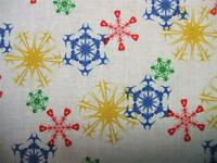 Winter Olympics Colors Snowflakes Quilting Treasures Fabric Yard Sale