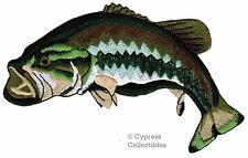 Largemouth Bass Patch Embroidered Iron-on Fishing Fish Souvenir Applique