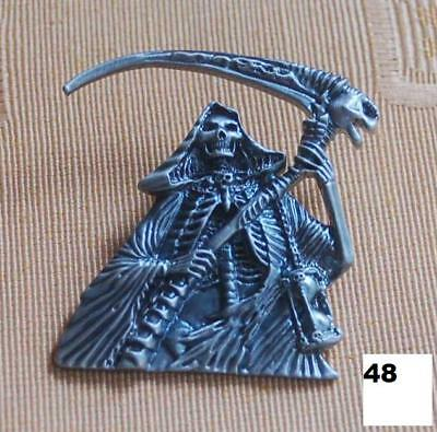 Sensenmann Satan Teufel Skull Gothik Pin Button Badge Anstecker # 48