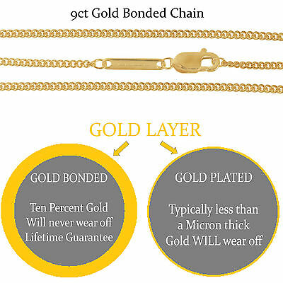 16 925 Silver Filled 9ct Gold Bonded Curb Trace Chains Superior Quality Ebay