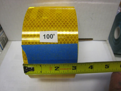 "AMBER YELLOW  Reflective   Conspicuity  Tape 3/"" x 100 ft"