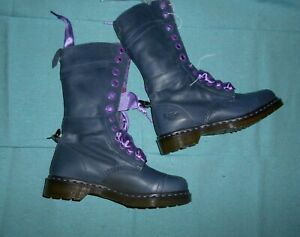 11f29028aac Details about RARE BRAND NEW IN BOX DM DR MARTENS TRIUMPH 1914 NAVY FLOWER  BOOTS UK 6 EU 39