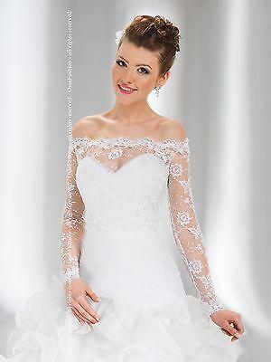 Women/'s Elegance Wedding Bridal Lace Bolero Jacket Full Length Sleeve B-100
