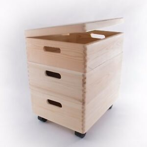 Image Is Loading Large 3 Wooden Stackable Storage Crates Bo With