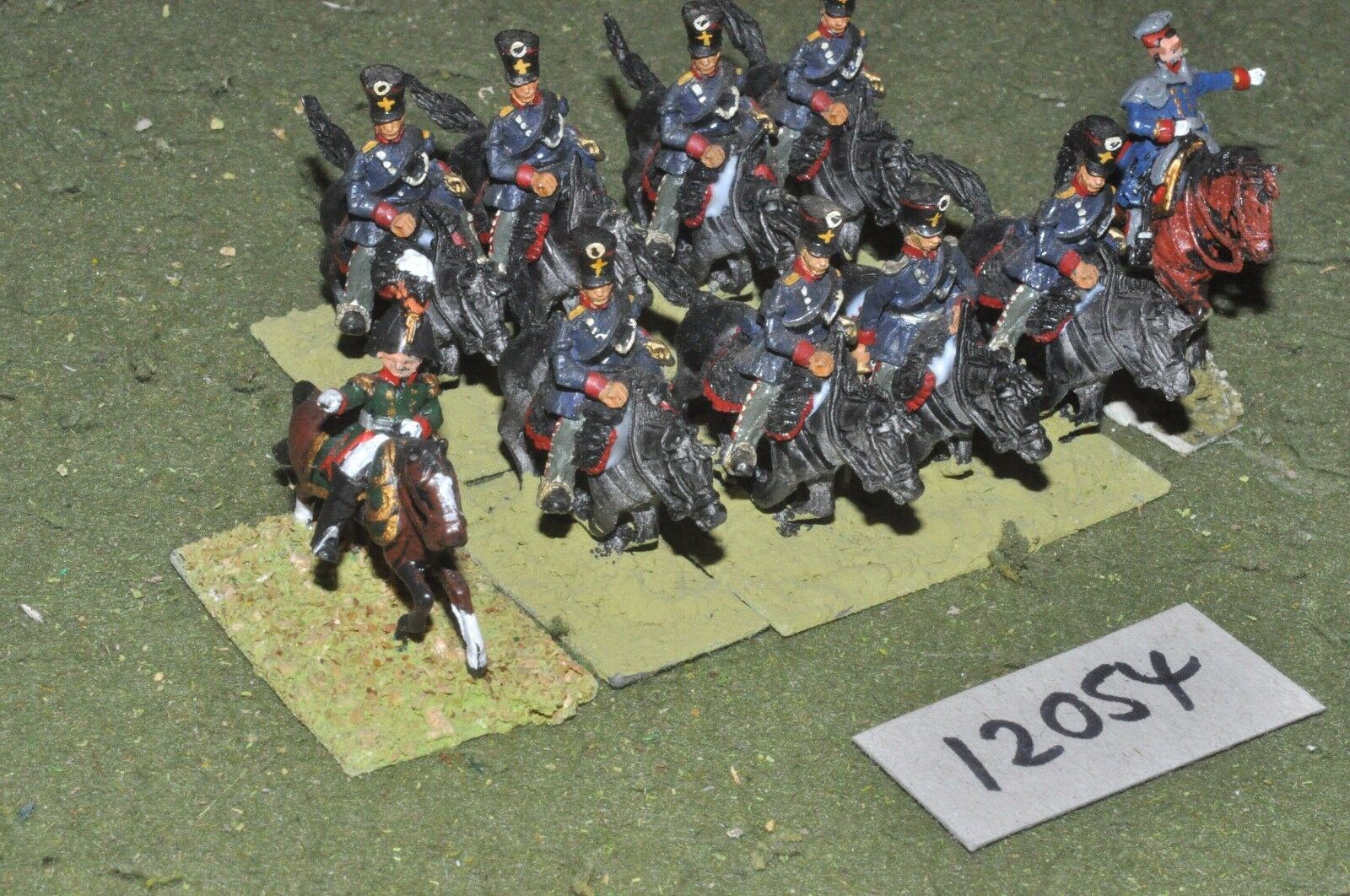 25mm napoleonic   prussian - dragoons command 10 cavalry - command (12054)