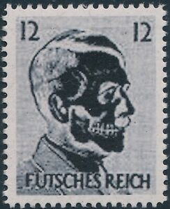 Stamp-Replica-Label-Germany-0100-WWII-Fuhrer-Hitler-Futches-Reich-Xray-MNH