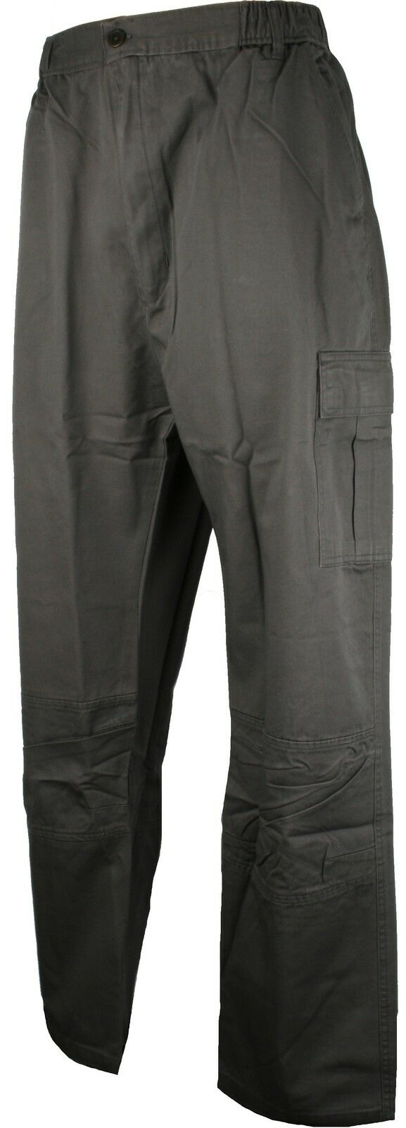 Perfect Collection Cotton Full Length Cargo Trousers Dark Grey 31 inch Leg