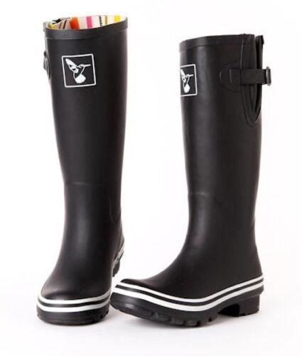 Wellies Bottes pluie Wellingtons noir Femmes d'hiver Evercreatures caoutchouc d5qCnHw