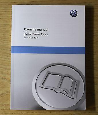 GENUINE VW PASSAT B8 ESTATE 2014-2016 OWNERS MANUAL HANDBOOK WALLET PACK  !