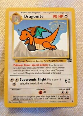 Pokemon Wizards Black Star Promos Dragonite #5 WB Stamped