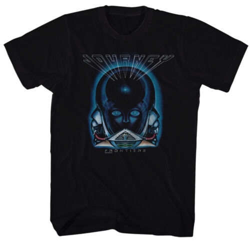 5XL Journey Mens New Black T-Shirt FRONTIERS 100/% Cotton Tee in Sizes SM