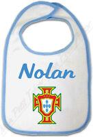 Bavoir Bleu Croix Portugaise Portugal Avec Prénom Personnalisé
