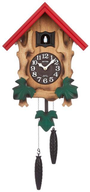 Rhythm Cuckoo Bird Wall Clock QZ MELVILLE R 4MJ775RH06 NEW