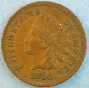 1880-Indian-Head-Cent-Penny-Very-Nice-Old-Coin-LIBERTY-Fast-S-amp-H-430
