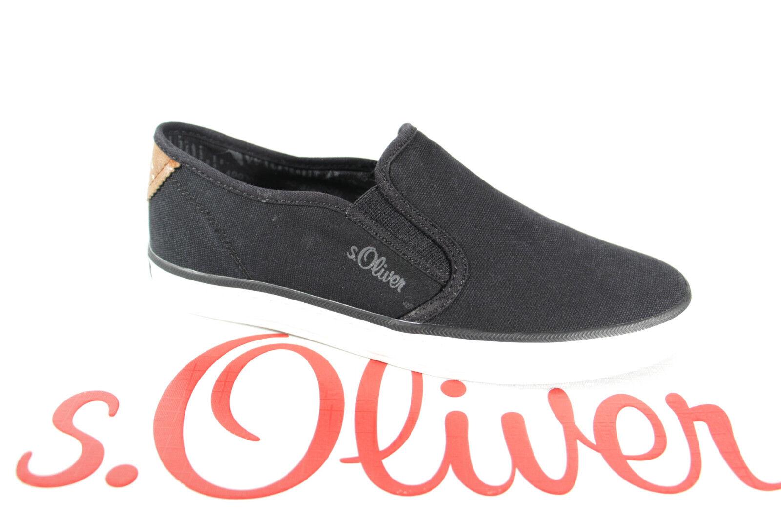 S.Oliver de Zapatillas Mujer Zapatillas Negro, Suela de S.Oliver Goma, Tejido Nuevo 6ebaa1