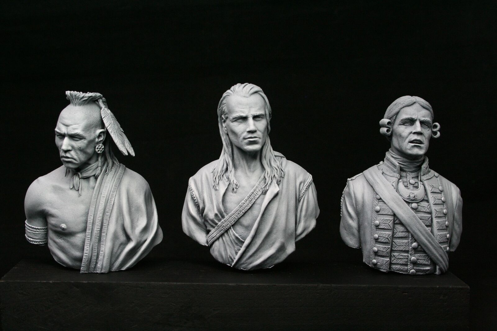 200mm (1 9) v-busts Seven Year War Set, Huron, Officer, Pathfinder