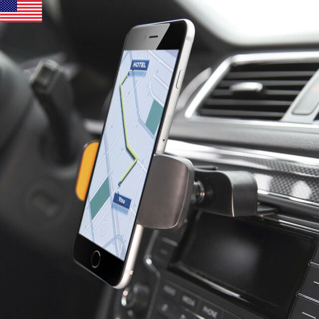 new style 13f53 d783c Car CD Slot Stereo Dash Mount Cell Phone Holder for iPhone 7 Plus & All  Andriod