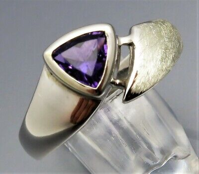 Klug Reif-design - Eleganter Amethyst Ring - Aus Eigener Goldschmiede - 925 Silber Durchblutung GläTten Und Schmerzen Stoppen