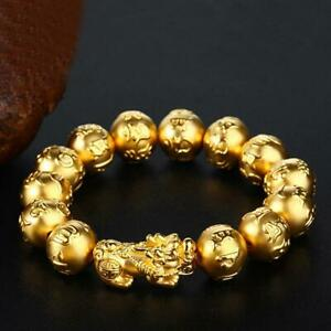 Gold-Metal-Pixiu-Wealth-Mantra-Bracelet-Pi-Yao-Feng-Shui-Bracelet-Lucky-Super
