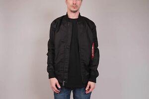 Alpha-Industries-MA-1-TT-LONG-Jacke-Bomberjacket-yeezy-Fliegerjacke-L-black