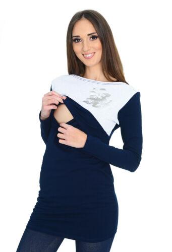 Maternity Pregnancy nursing breastfeeding Top Blouse Shirt 9088 MijaCulture