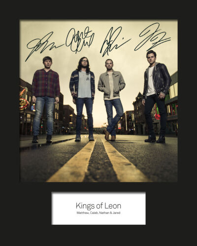 KINGS OF LEON #2 10x8 SIGNED Mounted Photo Print FREE DELIVERY