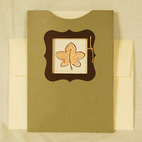 Pocket Card Kit Makes 4 Includes Envelopes Fall Autumn Leaf A7 5x7