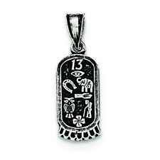.925 Sterling Silver Antiqued Mini Good Luck Icons Charm Pendant MSRP $18