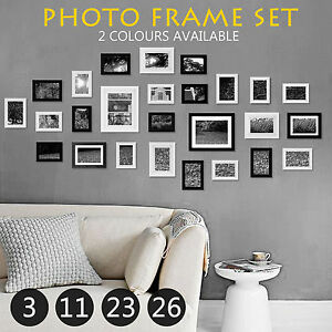 db2ea09a827 Details about Multi Photo Frame Set DIY Home Décor Picture Collage Wall  Gift 3 26 23 11 PCS