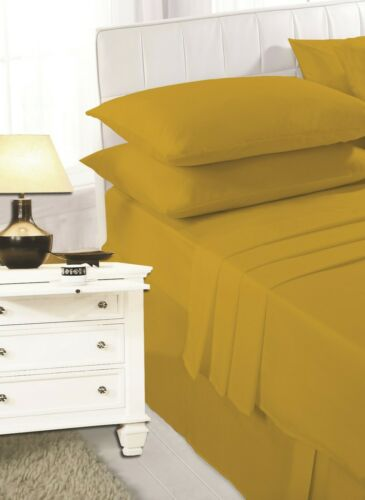 Premium Quality Easy Care Flat Sheets Single Double King and Super King Sizes
