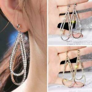Long-Geometric-Drop-Dangle-Earrings-Rhinestone-Ear-Studs-Women-Gift-Jewelry
