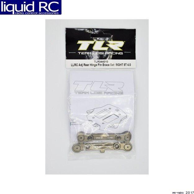 Team Losi Racing 344010 LLRC Adj Rear Hinge Pin Brace Set: 8IGHT 8T 4.0