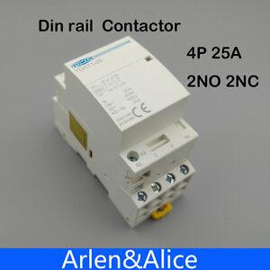 TOCT1 4P 25A 2NC 2NO 220V/230V 50/60HZ Din rail Household ac contactor