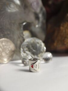 GENUINE-PANDORA-STERLING-SILVER-CHARM-034-LOVE-LETTER-TO-MY-LOVE-034
