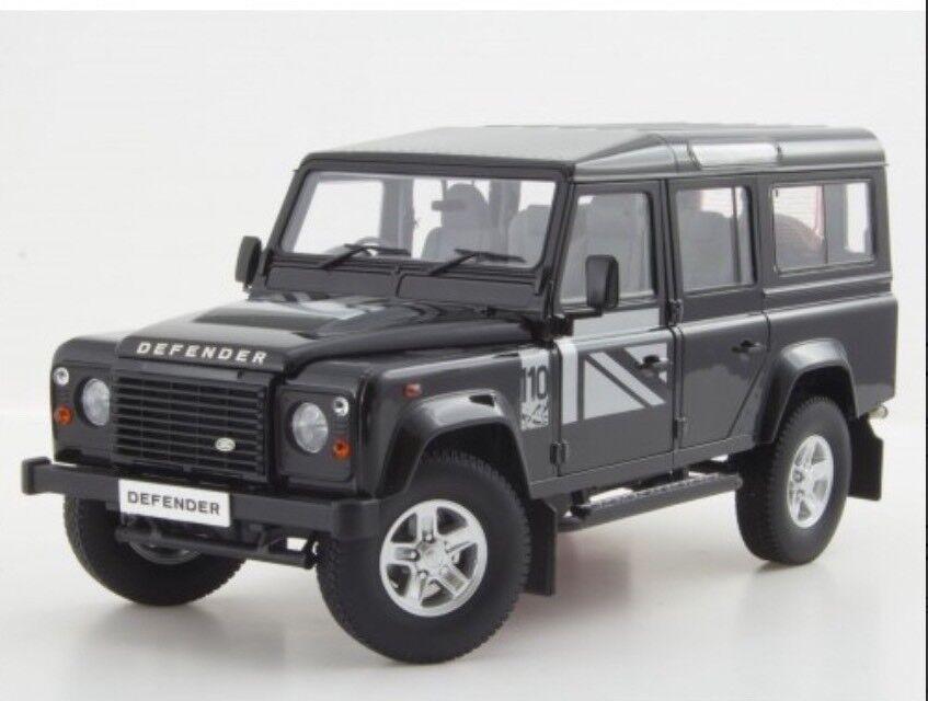 1 18 Land Rover Defender 110 Dorlop  Lwb Rare Noir Rhd Détaillé Modèle Moulé  votre satisfaction est notre cible