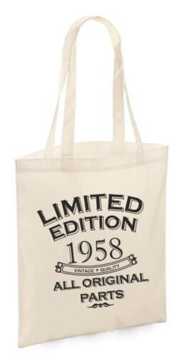62nd Birthday Presents Gifts Year 1958 Shopper Shopping Womens Keepsake Tote Bag