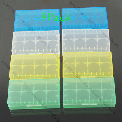 8pcs LIR123A CR123A 16340 17335 18650 Battery Case Cover Storage Box Holder New